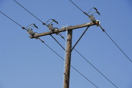 High voltage power lines 版權商用圖片
