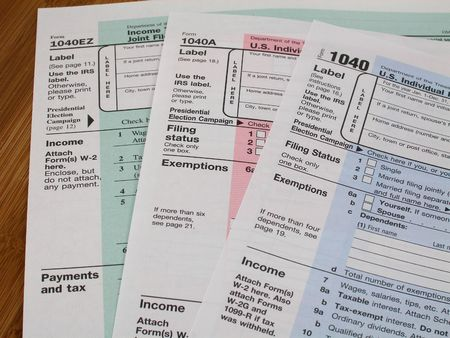Income tax forms 1040