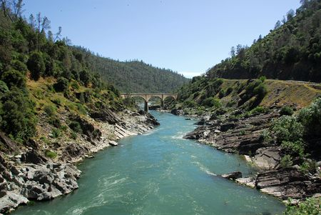South fork of the American River in the Gold Country near Auburn, California Banco de Imagens