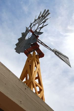 Windmill on the roof, Carmel, California Imagens