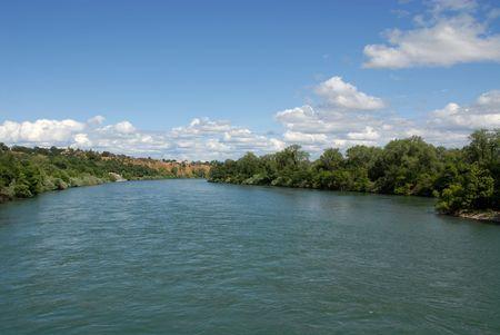 riverfront: Sacramento River from Turtle Bay, Redding, California