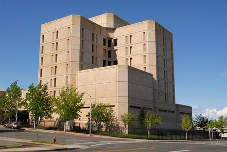 featureless: Shasta County Jail, Redding, California Stock Photo