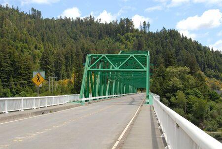 Road bridge over the Eel River, Rio Dell, California
