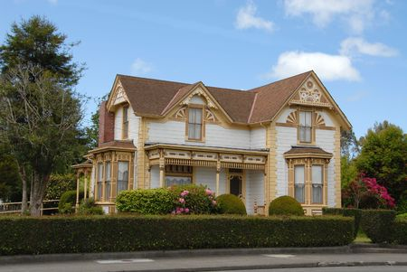 Victoriaanse huis, Ferndale, Californië Stockfoto - 418879