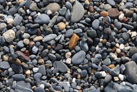 crescent: Rocks & pebbles, Battery Point, Crescent City, California Stock Photo