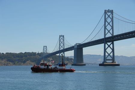 San Francisco Bay Bridge Banco de Imagens