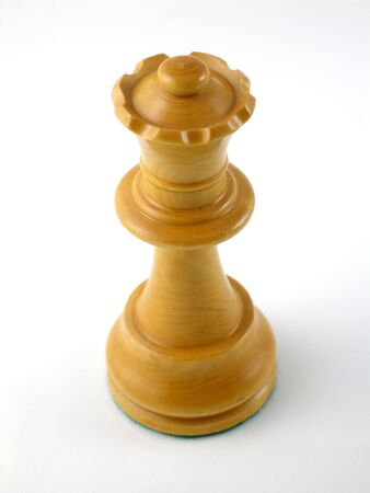 Staunton chess piece - queen Stok Fotoğraf
