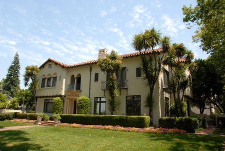 규소: Mediterranean mansion, San Jose, California