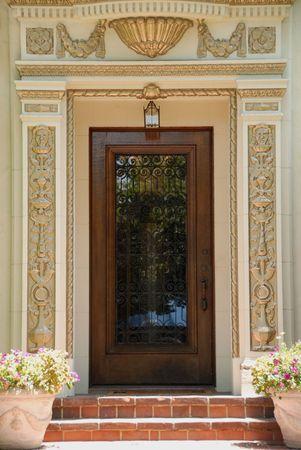 Ornate Mediterranean doorway, San Jose, California