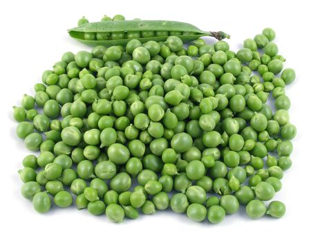 A pile of shelled peas