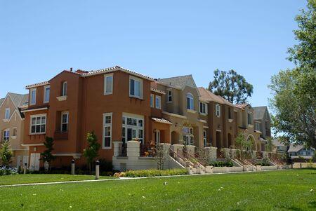Townhouse row, Santa Clara, California Stock Photo