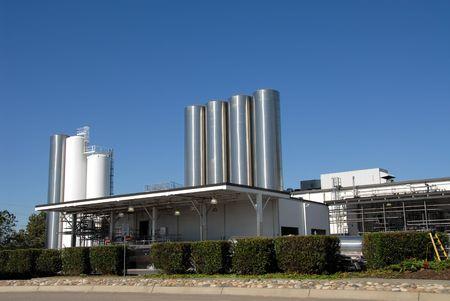 Dairy plant, Tracy, California Standard-Bild