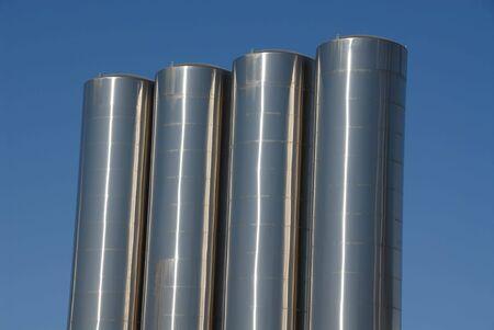 Stainless Steel Storage Tanks, Tracy, California Stock Photo   453740