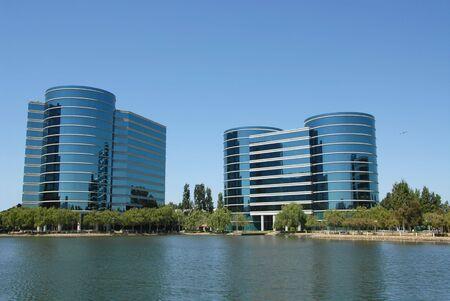 shores: High tech office buildings, Redwood Shores, California Stock Photo