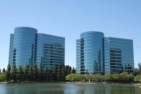 High tech office buildings, Redwood Shores, California Reklamní fotografie