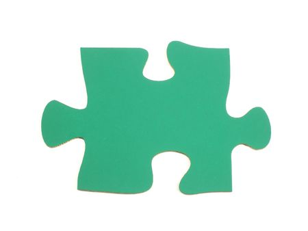 Blank jigsaw puzzle piece photo
