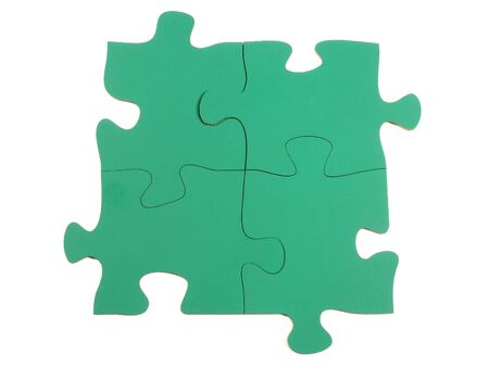 unmarked: Blank jigsaw puzzle pieces