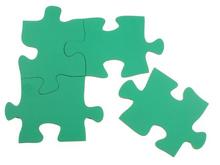 Blank jigsaw puzzle pieces photo