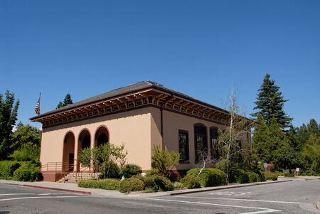 oficina antigua: Ex oficina de correos, Grass Valley, California Foto de archivo