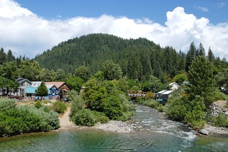 Yuba River, Downieville in Californias Gold Country