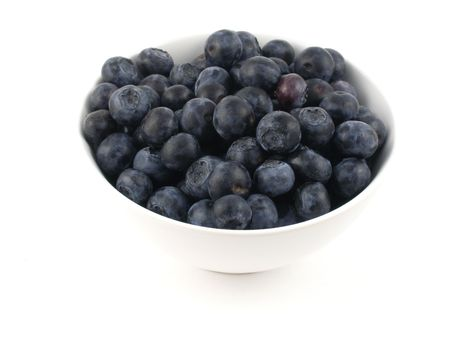 A bowl of fresh blueberries Standard-Bild