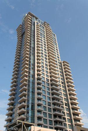 Apartment tower, San Diego, California Stock Photo