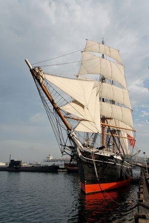 19th century sailing ship, San Diego, California
