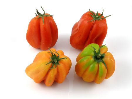 heirloom: Heirloom tomatoes Stock Photo