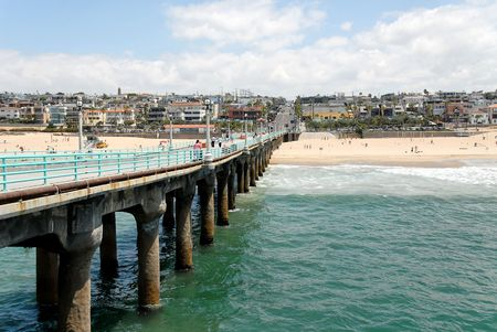 View from the pier of Manhattan Beach, California