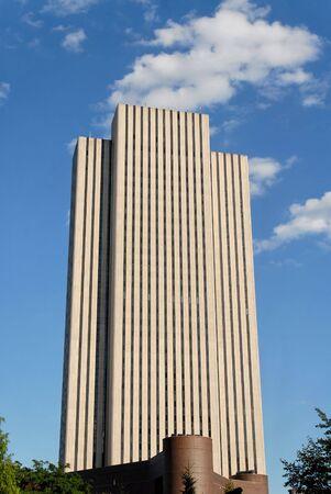 featureless: Nondescript office building in lower Manhattan