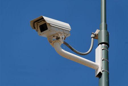 Pole-mounted security camera