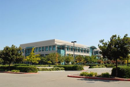 Silicon Valley office building on a holiday weekend photo