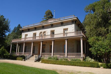 carson city: Bowers Mansion, Carson City, Nevada Stock Photo