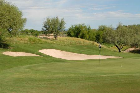 緑、スコッツデール、アリゾナ州のゴルフ ・ ボール