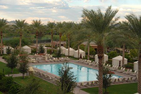 Hotel swimming pool, Scottsdale, Arizona Stock Photo