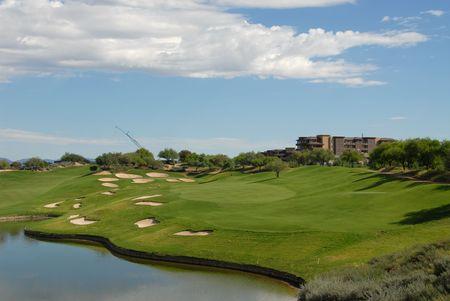 Lakeside golf hole, Scottsdale, Arizona