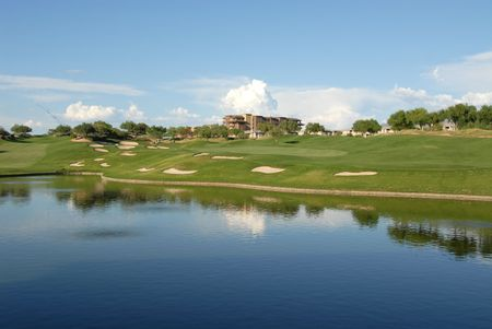 Lakeside golf hole, Scottsdale, Arizona photo