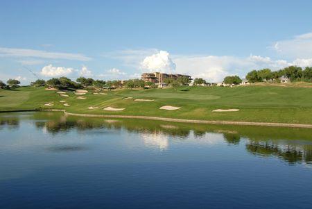 scottsdale: Lakeside golf hole, Scottsdale, Arizona