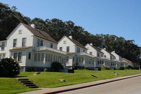 Military housing, The Presidio, San Francisco, California Stock Photo