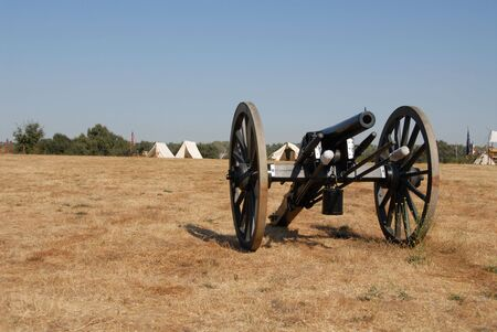 Six pound cannon, Civil War reenactment, Clements, California