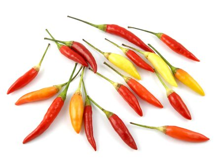 Red, orange & yellow cayenne peppers