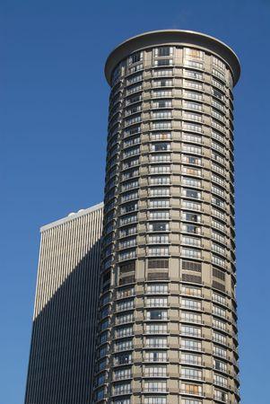 cylindrical: Hotel torre di forma cilindrica, Seattle, Washington