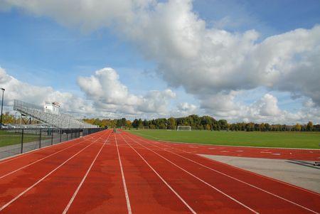 College running track & soccer field, Rochester, New York