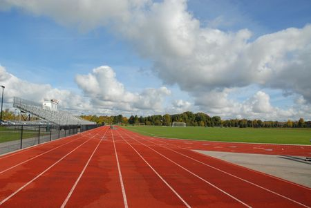 College running track & soccer field, Rochester, New York photo
