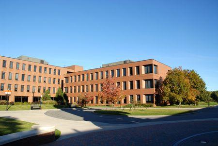 College gebouwen, Rochester, New York Stockfoto