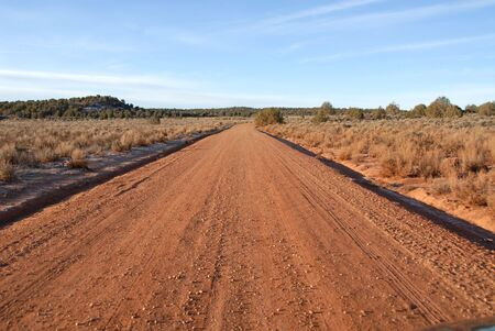 paria: Dirt road to Paria, Utah, a Mormon ghost town
