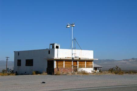 Verlaten Route 66 bedrijven, Ludlow, Californië