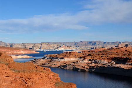 Lake Powell from Glen Canyon Dam, Page, Arizona