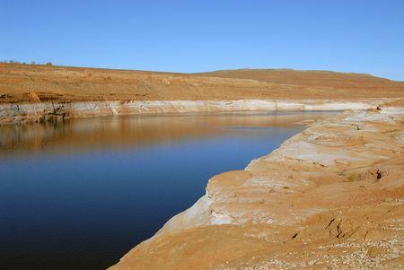 Lake Powell near Glen Canyon Dam, Page, Arizona Banco de Imagens