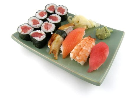 nigiri: A selection of nigiri sushi